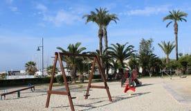 Περιοχή παιχνιδιού άμμου για τα παιδιά στοκ εικόνα με δικαίωμα ελεύθερης χρήσης