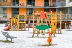 Περιοχή παιχνιδιού παιδιών στη Ρήγα Στοκ Εικόνες
