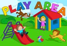 Περιοχή παιχνιδιού παιδιών Στοκ Εικόνες