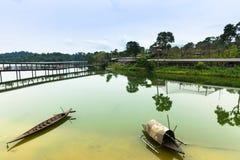 Περιοχή σαφάρι ποταμών στο ζωολογικό κήπο της Σιγκαπούρης Στοκ Εικόνες
