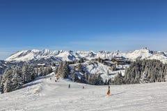 Περιοχή σκι μεγάλου υψομέτρου Στοκ Φωτογραφία
