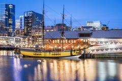 περιοχή στο κέντρο της πόλης οικονομική Μασαχουσέτη ΗΠΑ της Βοστώνης Στοκ εικόνες με δικαίωμα ελεύθερης χρήσης