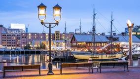περιοχή στο κέντρο της πόλης οικονομική Μασαχουσέτη ΗΠΑ της Βοστώνης Στοκ Φωτογραφία