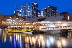 περιοχή στο κέντρο της πόλης οικονομική Μασαχουσέτη ΗΠΑ της Βοστώνης Στοκ Φωτογραφίες