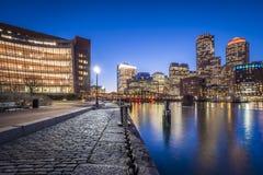 περιοχή στο κέντρο της πόλης οικονομική Μασαχουσέτη ΗΠΑ της Βοστώνης Στοκ φωτογραφίες με δικαίωμα ελεύθερης χρήσης
