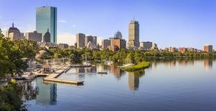 περιοχή στο κέντρο της πόλης οικονομική Μασαχουσέτη ΗΠΑ της Βοστώνης Στοκ Εικόνα