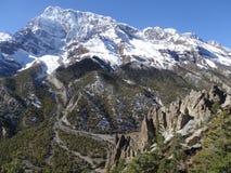 Περιοχή συντήρησης Annapurna, Ιμαλάια, Νεπάλ Στοκ φωτογραφία με δικαίωμα ελεύθερης χρήσης