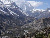 Περιοχή συντήρησης Annapurna, περιοχή Manang, του Νεπάλ Στοκ φωτογραφία με δικαίωμα ελεύθερης χρήσης