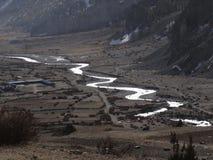 Περιοχή συντήρησης Annapurna, περιοχή Manang, του Νεπάλ Στοκ Φωτογραφία
