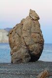 Περιοχή της Κύπρου, Πάφος, tou Romiou, βράχος της Petra Aphrodite Στοκ Εικόνες