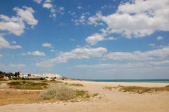 Περιοχή τουριστών καλοκαιριού στην Τυνησία Στοκ φωτογραφία με δικαίωμα ελεύθερης χρήσης
