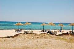 Περιοχή τουριστών καλοκαιριού στην Τυνησία Στοκ Εικόνες
