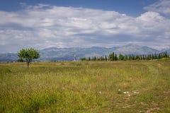 Περιοχή του αερολιμένα Podgorica Στοκ Φωτογραφία