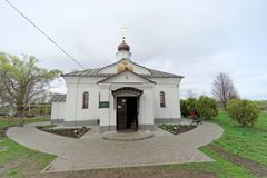 Περιοχή του Βλαντιμίρ, της Ρωσίας - 6 Μαΐου 2018 μεσολάβηση εκκλησιών nerl στοκ φωτογραφία