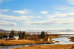 Περιοχή του Κοινοβουλίου στο εθνικό πάρκο Pingvellir Στοκ Εικόνες