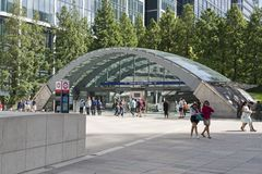 Περιοχή του Λονδίνου Canary Wharf Στοκ Εικόνες