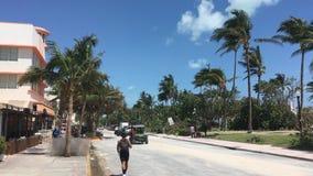 Περιοχή του Μαϊάμι Art Deco μετά από τον τυφώνα Irma απόθεμα βίντεο