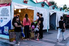 Περιοχή φεστιβάλ Ramadan στην πόλη Yalova - Τουρκία Στοκ Εικόνες