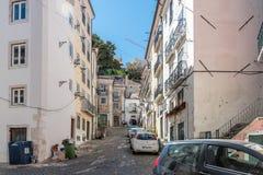 Περιοχή Alfama στη Λισσαβώνα, Πορτογαλία Στοκ Εικόνες