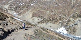 Περιοχή Annapurna οδοιπορίας, Νεπάλ Στοκ Εικόνες