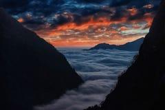 Περιοχή Annapurna στο Νεπάλ Himalayan Στοκ Εικόνες