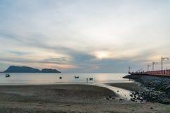 Περιοχή AO Prachuap, επαρχία λιμένων Prachuap Khiri Khan στη νότια Ταϊλάνδη Στοκ φωτογραφία με δικαίωμα ελεύθερης χρήσης