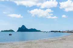 Περιοχή AO Prachuap, επαρχία Prachuap Khiri Khan στη νότια Ταϊλάνδη Στοκ φωτογραφία με δικαίωμα ελεύθερης χρήσης