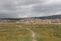 Περιοχή Archeological έξω από Tetouan, πόλη στο Μαρόκο/τη Βόρεια Αφρική Στοκ Φωτογραφία