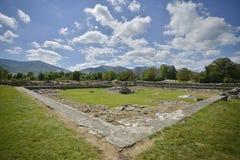 Περιοχή Archeological από Ulpia Traiana Sarmizegetus Στοκ Φωτογραφία