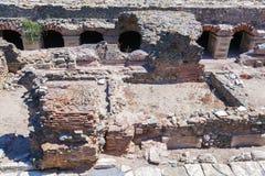 Περιοχή Archeological - ρωμαϊκό φόρουμ, Θεσσαλονίκη Στοκ Εικόνες