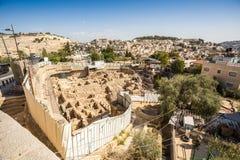 Περιοχή Archeological στην Ιερουσαλήμ, Ισραήλ Στοκ φωτογραφία με δικαίωμα ελεύθερης χρήσης