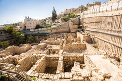 Περιοχή Archeological στην Ιερουσαλήμ, Ισραήλ Στοκ εικόνες με δικαίωμα ελεύθερης χρήσης