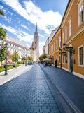 Περιοχή Buda στη Βουδαπέστη, Ουγγαρία Στοκ Εικόνα