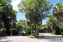 Περιοχή Campground για το rv στοκ εικόνα με δικαίωμα ελεύθερης χρήσης