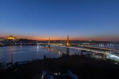 Περιοχή Fatih, τοπίο πόλεων λυκόφατος Στοκ φωτογραφίες με δικαίωμα ελεύθερης χρήσης