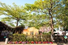 Περιοχή Fengying σπιτιών δέντρων του Ταϊνάν Anping, Ταϊνάν, Ταϊβάν Στοκ εικόνα με δικαίωμα ελεύθερης χρήσης