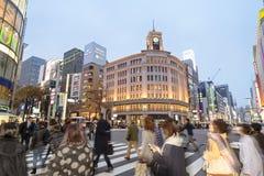 Περιοχή Ginza, Τόκιο - Ιαπωνία στοκ εικόνα με δικαίωμα ελεύθερης χρήσης