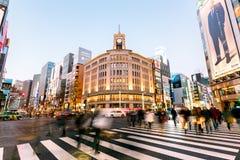 Περιοχή Ginza, Τόκιο - Ιαπωνία στοκ φωτογραφίες με δικαίωμα ελεύθερης χρήσης