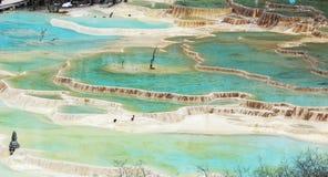 περιοχή huanglong φυσική Στοκ Εικόνες