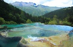 περιοχή huanglong φυσική Στοκ Εικόνα