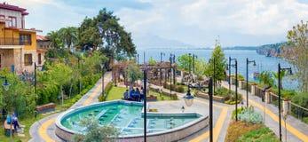 Περιοχή Kaleici της δημοφιλούς πόλης Antalya παραθαλάσσιων θερέτρων Στοκ εικόνα με δικαίωμα ελεύθερης χρήσης