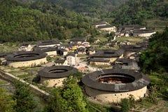 Περιοχή NaJing tulou Fujian στην Κίνα Στοκ Εικόνα