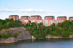 Περιοχή Residental στη Στοκχόλμη Στοκ Φωτογραφία