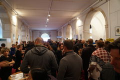 Περιοχή Tasitng σε Les Trois Glorieuses de Bourgogne τρία λαμπρό Daysin Beaune Στοκ εικόνες με δικαίωμα ελεύθερης χρήσης