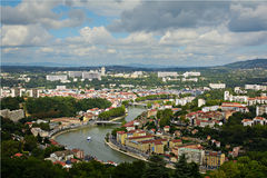 Περιοχή Vaise στη Λυών, Γαλλία Στοκ εικόνες με δικαίωμα ελεύθερης χρήσης