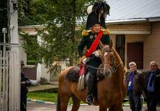 ΠΕΡΙΟΧΗ ΤΗΣ ΜΟΣΧΑΣ - 6 ΣΕΠΤΕΜΒΡΊΟΥ: Ιστορική μάχη αναπαράστασης Borodino στην επέτειο 203 του Στοκ φωτογραφία με δικαίωμα ελεύθερης χρήσης