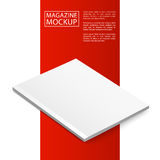 Περιοδικό κόκκινο line3-01 προτύπων Στοκ Εικόνες