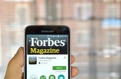Περιοδικό app του Forbes Στοκ Εικόνες