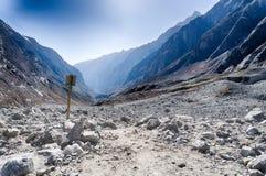 Περιπέτεια βουνών του Νεπάλ Ιμαλάια Στοκ εικόνες με δικαίωμα ελεύθερης χρήσης