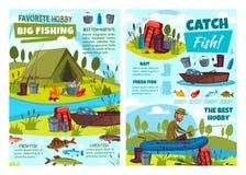 Περιπέτεια χόμπι αλιείας, εξοπλισμός θελγήτρων ψαράδων ελεύθερη απεικόνιση δικαιώματος